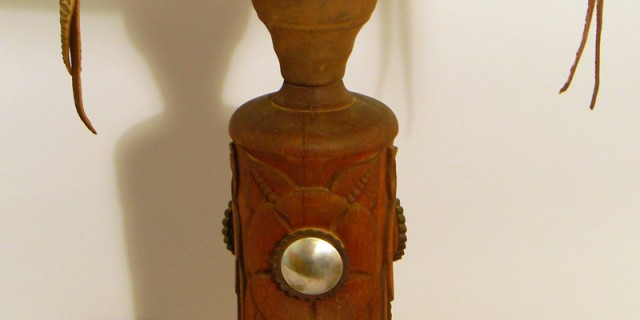 Wood and Leather Lamp